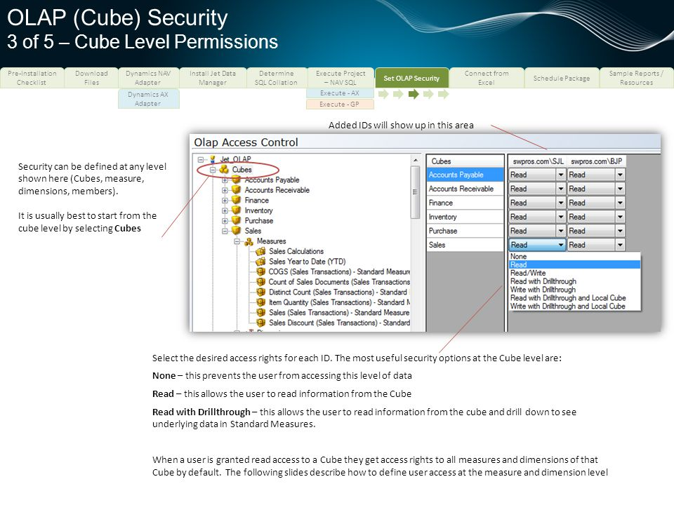 OLAP (Cube) Security 3 of 5 – Cube Level Permissions