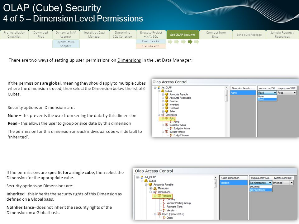 OLAP (Cube) Security 4 of 5 – Dimension Level Permissions