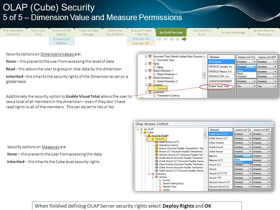 OLAP (Cube) Security 5 of 5 – Dimension Value and Measure Permissions