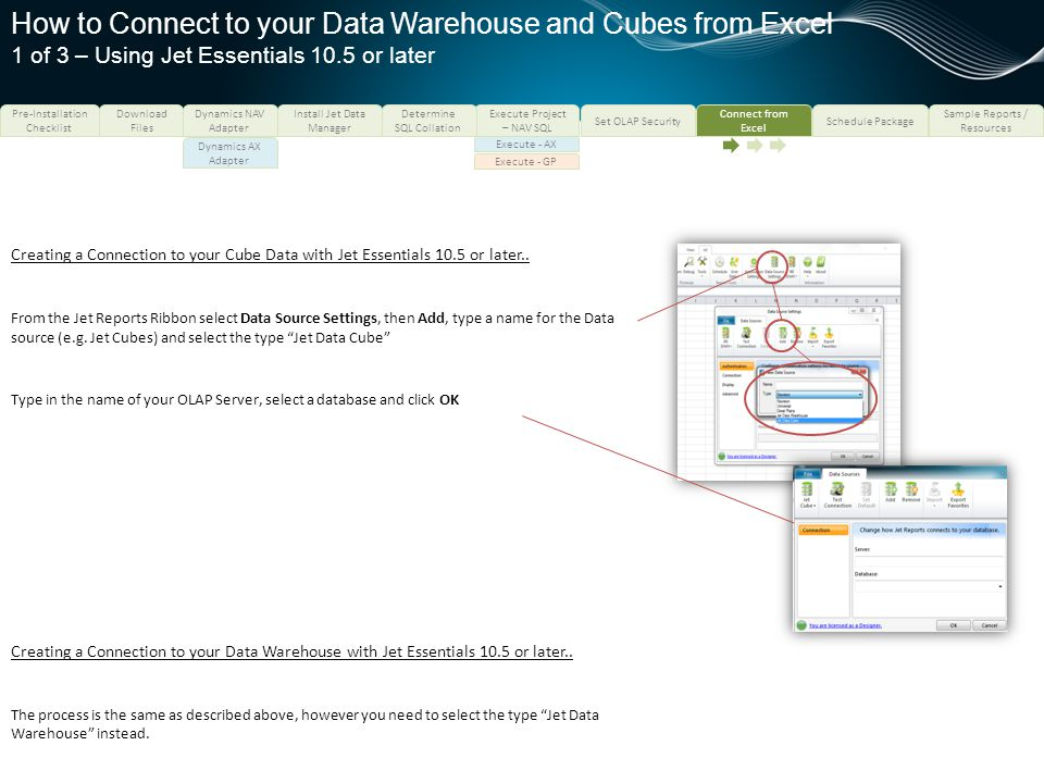 How to Connect to your Data Warehouse and Cubes from Excel