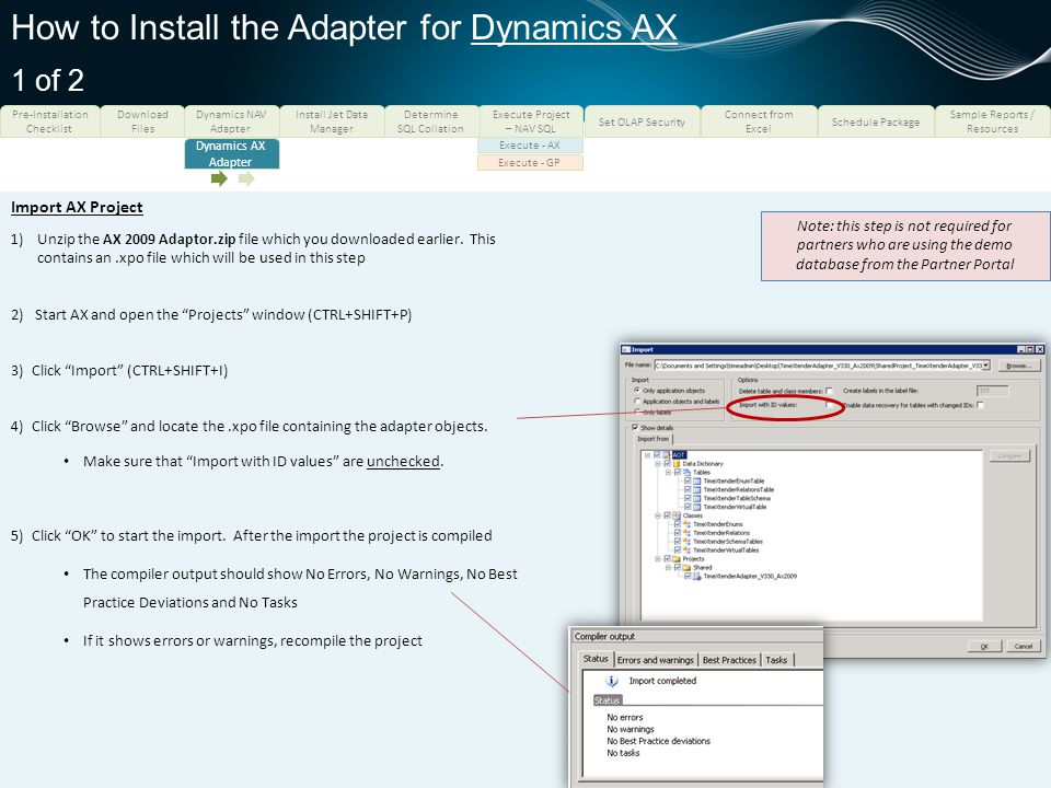 How to Install the Adapter for Dynamics AX