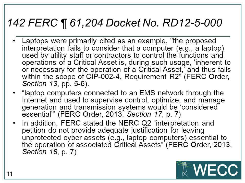 142 FERC ¶ 61,204 Docket No. RD12-5-000