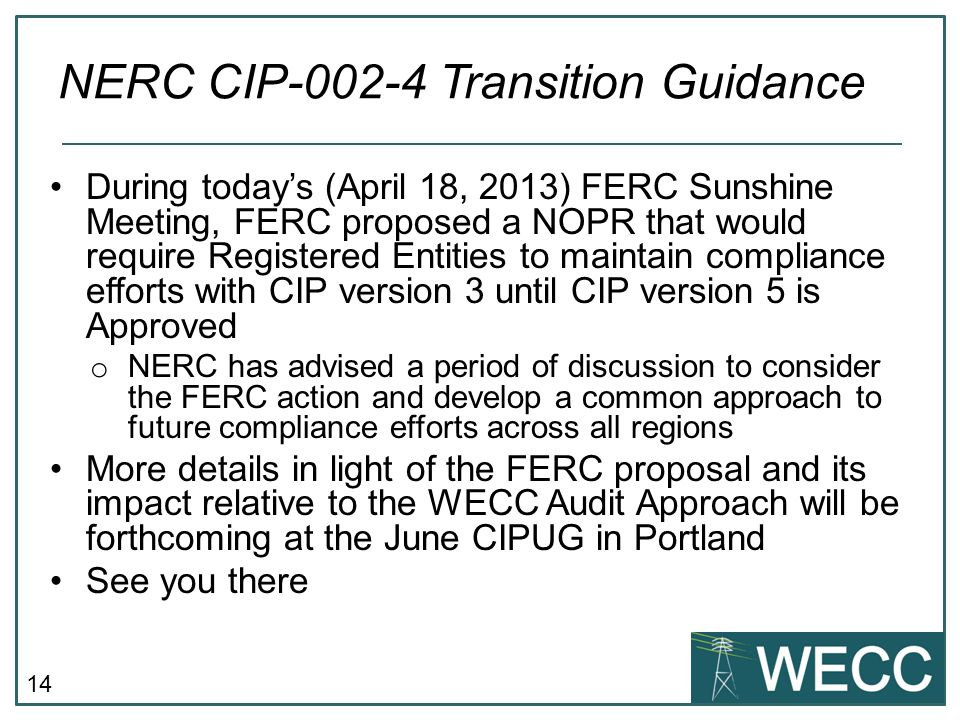 NERC CIP-002-4 Transition Guidance