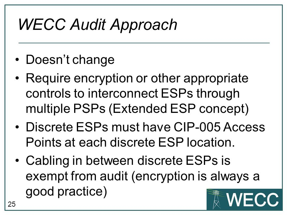 WECC Audit Approach Doesn't change