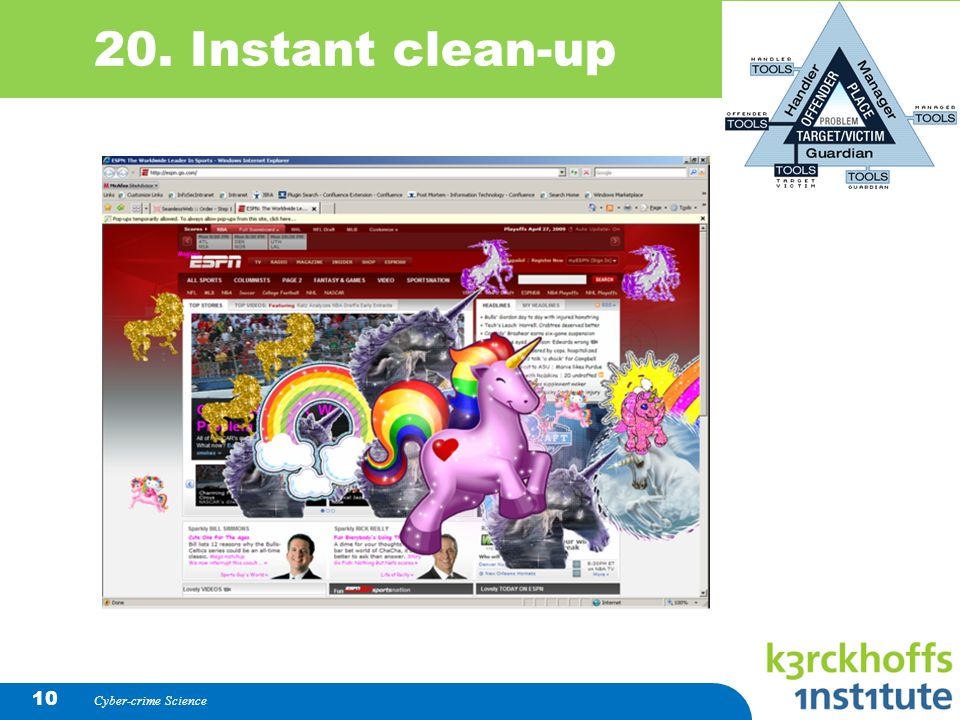 20. Instant clean-up Cyber-crime Science