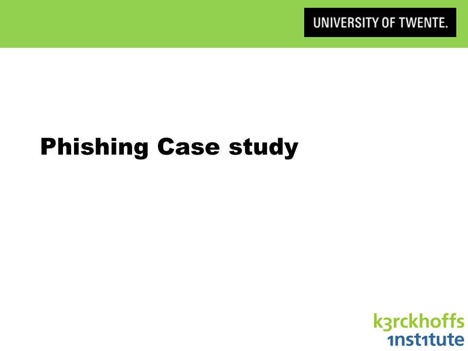 Phishing Case study