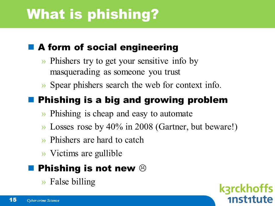 What is phishing A form of social engineering