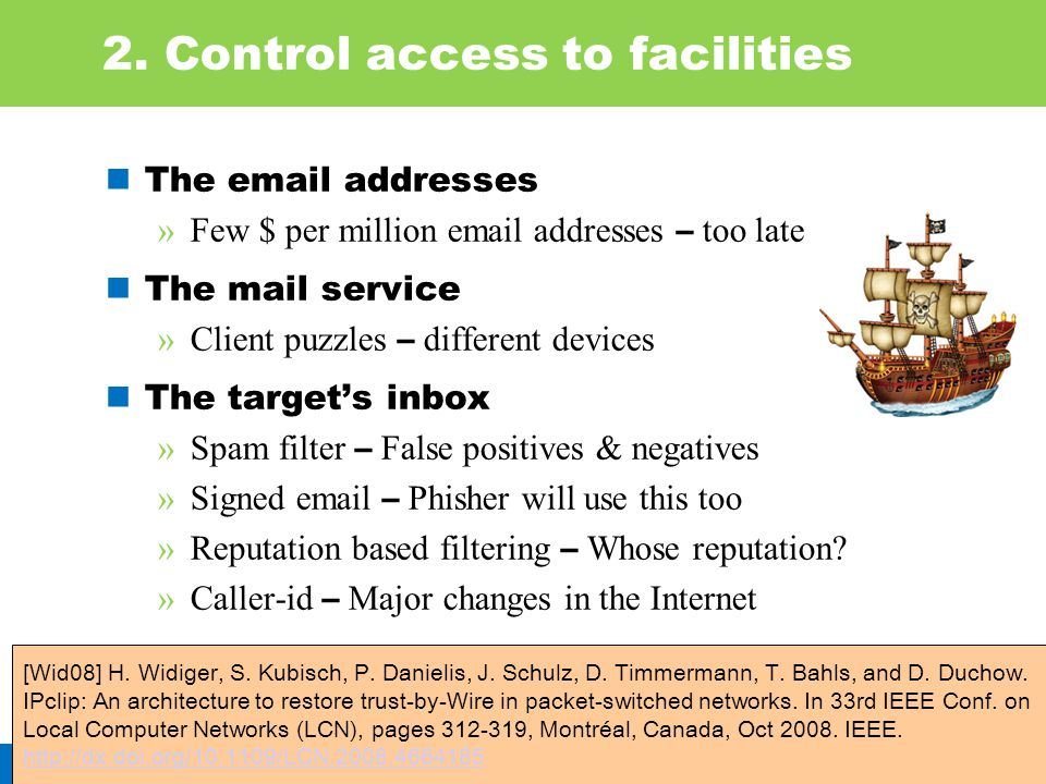 2. Control access to facilities