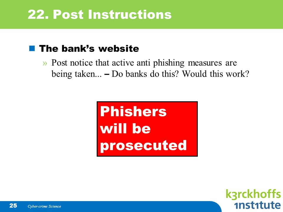 Phishers will be prosecuted