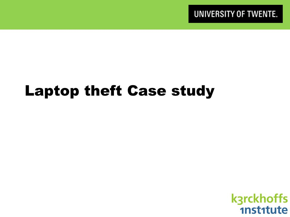 Laptop theft Case study