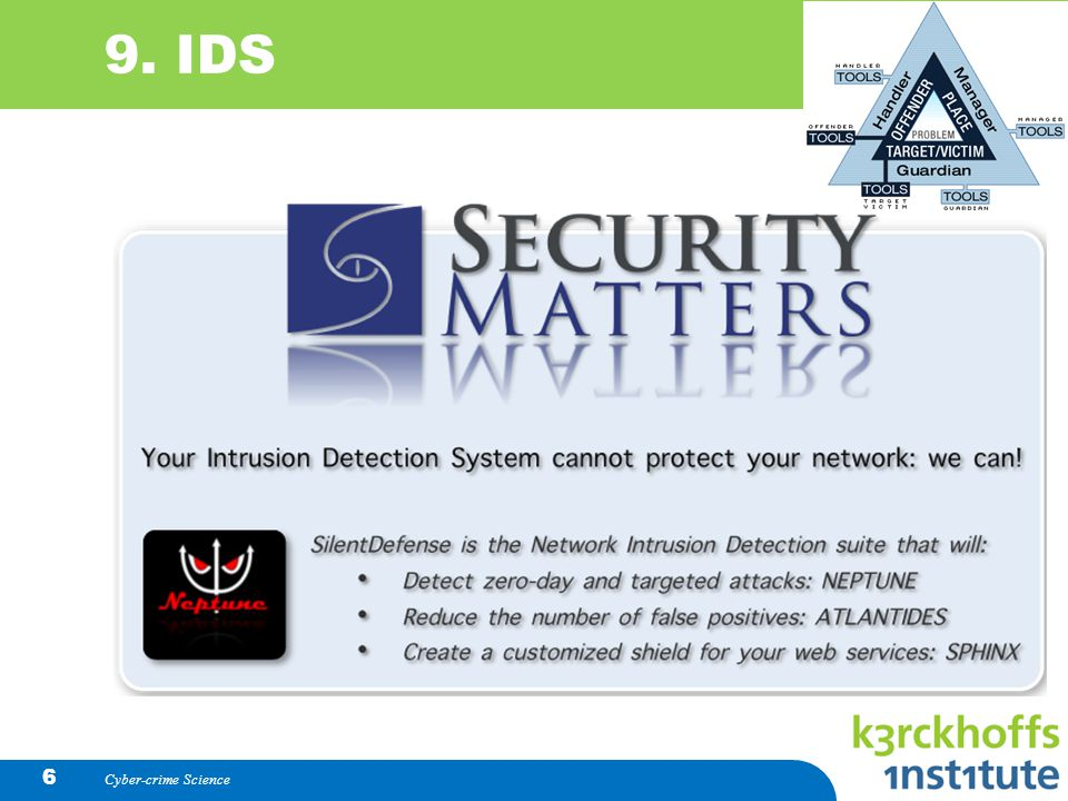 9. IDS Cyber-crime Science