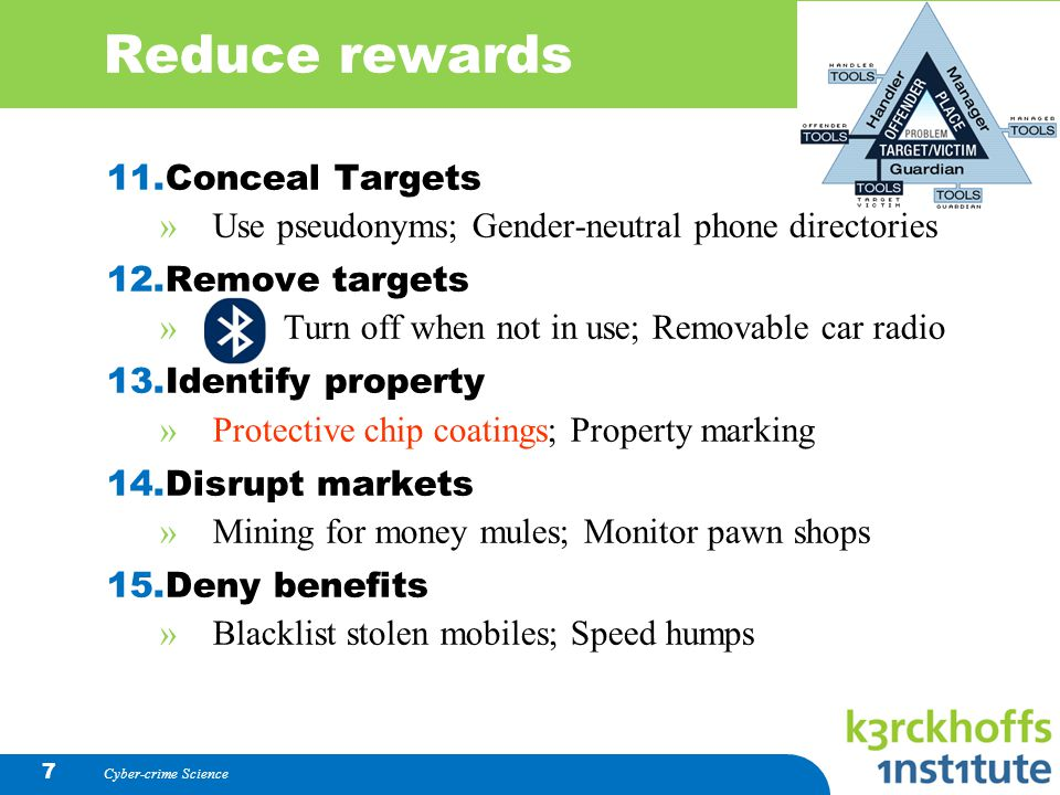 Reduce rewards Conceal Targets