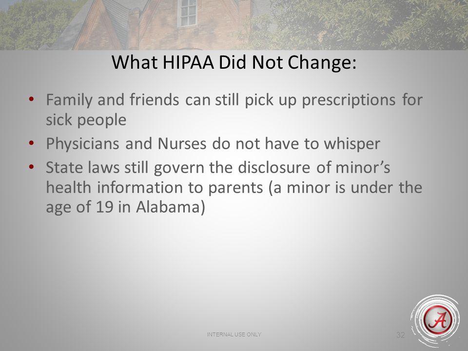 What HIPAA Did Not Change: