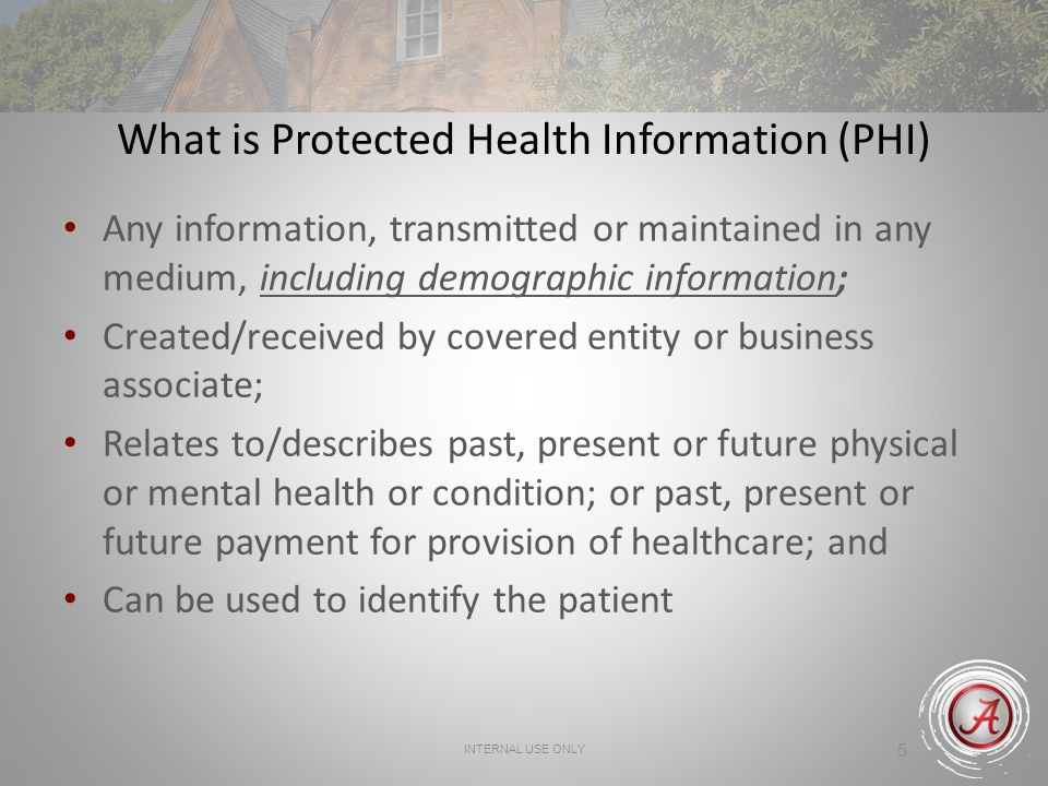 What is Protected Health Information (PHI)