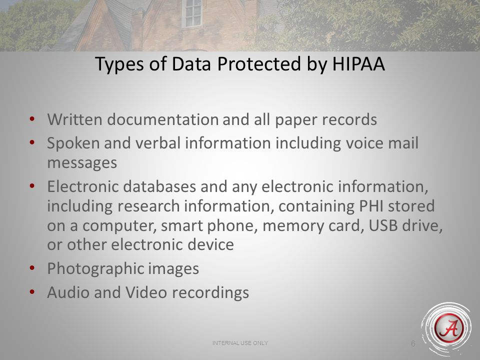 Types of Data Protected by HIPAA