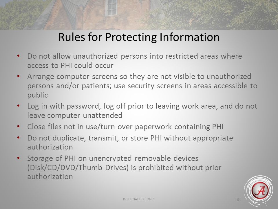 Rules for Protecting Information