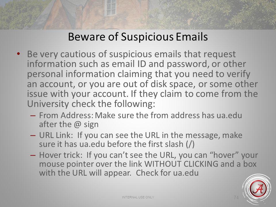 Beware of Suspicious Emails