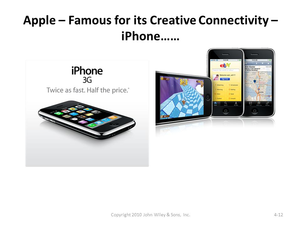 Apple – Famous for its Creative Connectivity – iPhone……