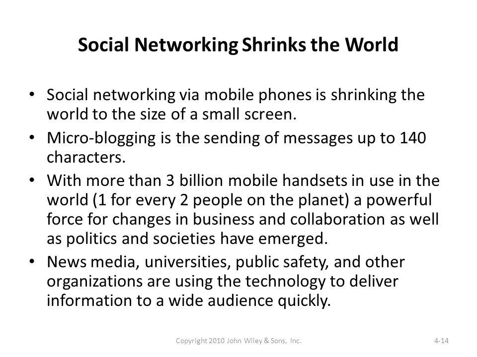 Social Networking Shrinks the World