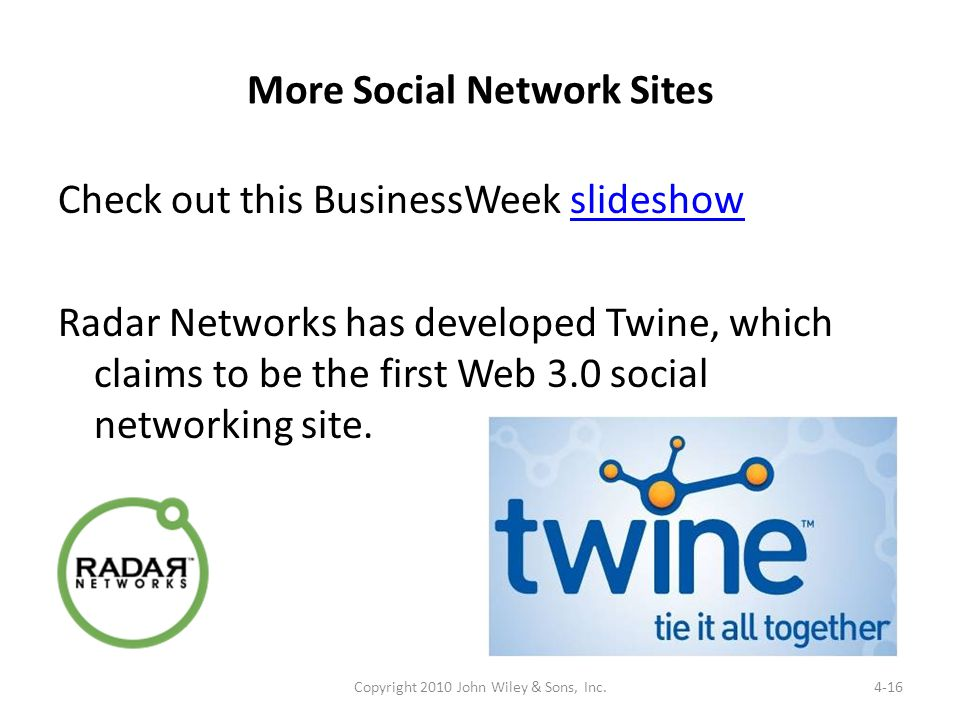 More Social Network Sites