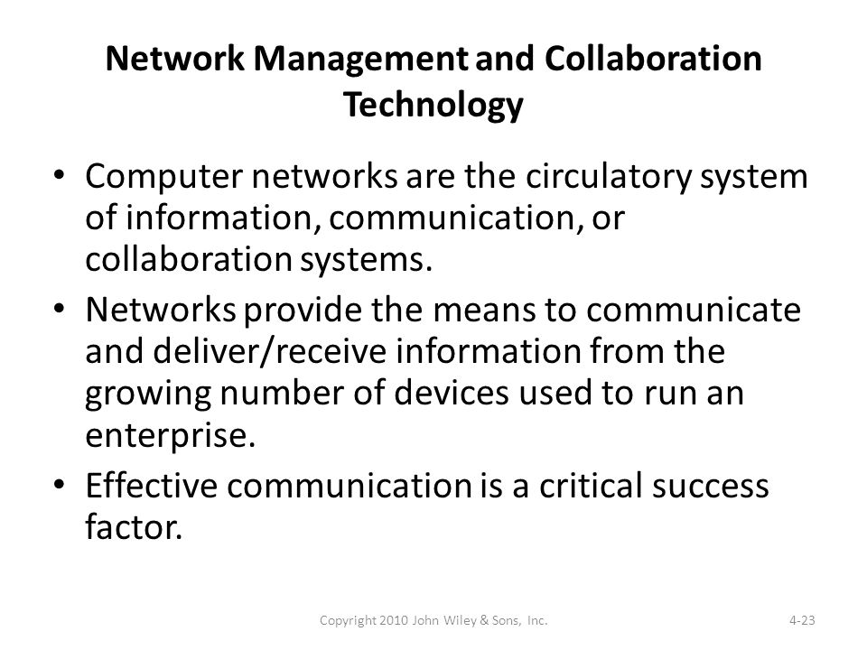 Network Management and Collaboration Technology