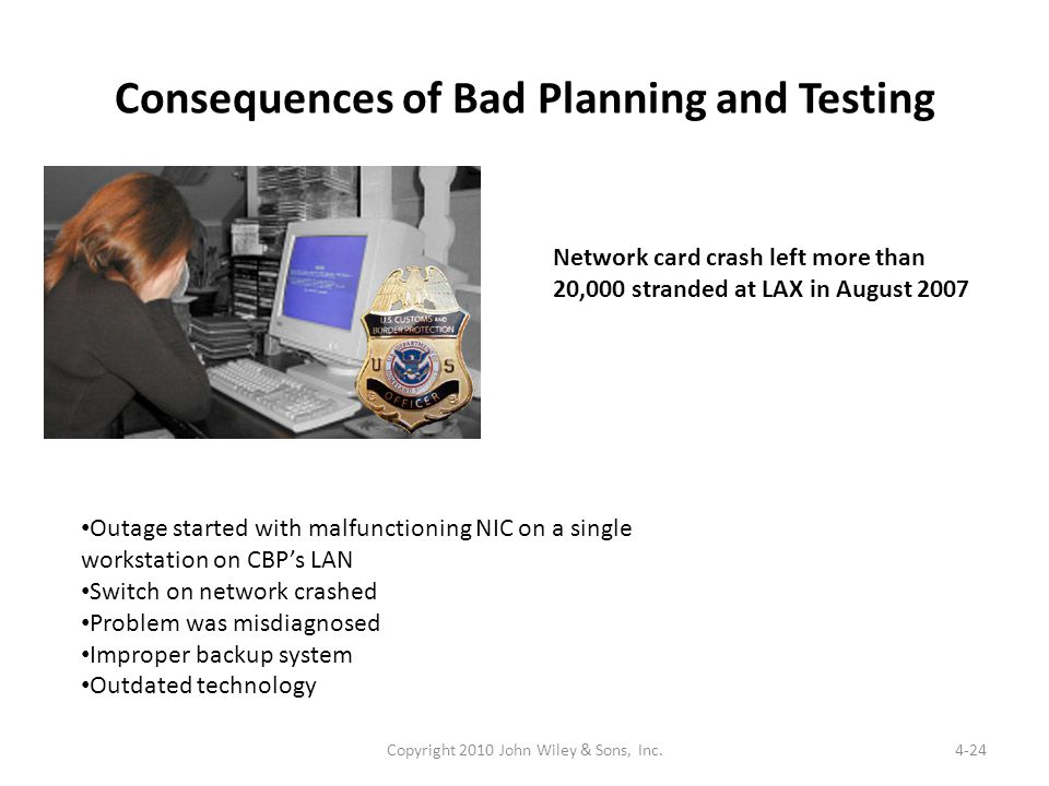 Consequences of Bad Planning and Testing