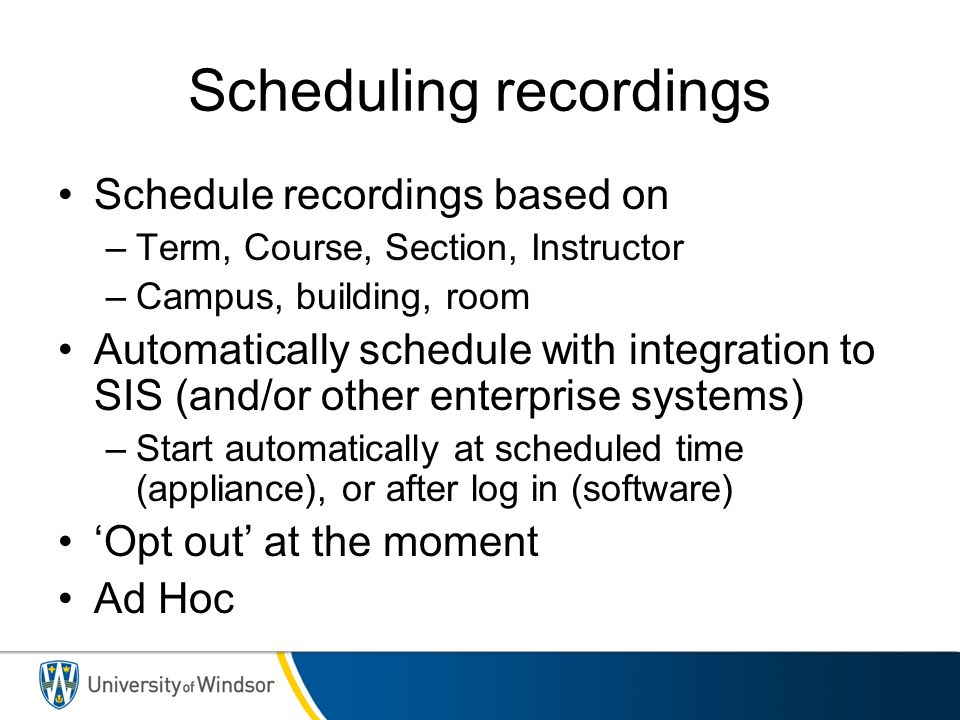 Scheduling recordings