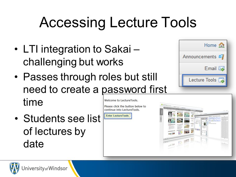 Accessing Lecture Tools