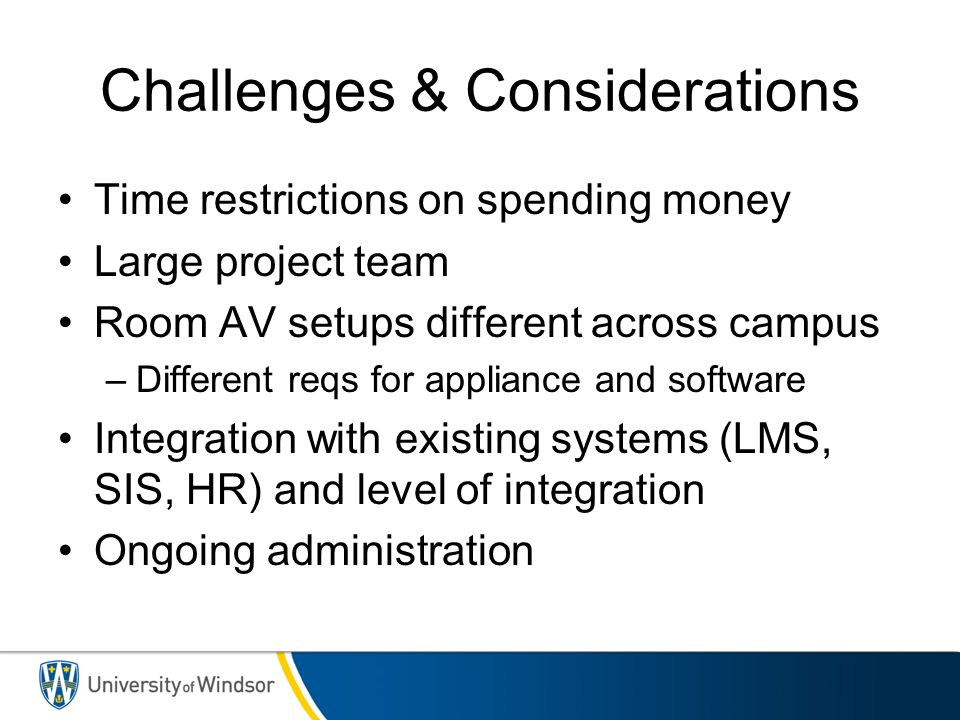 Challenges & Considerations