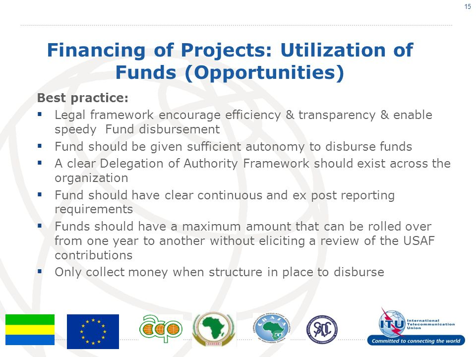 Financing of Projects: Utilization of Funds (Opportunities)