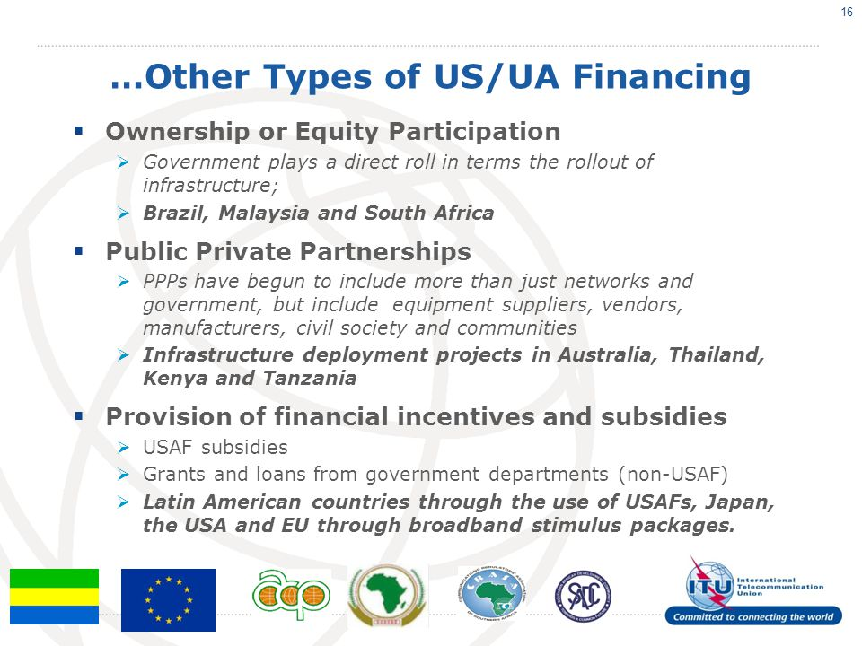 …Other Types of US/UA Financing