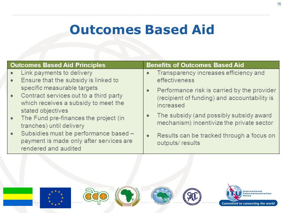 Outcomes Based Aid Outcomes Based Aid Principles
