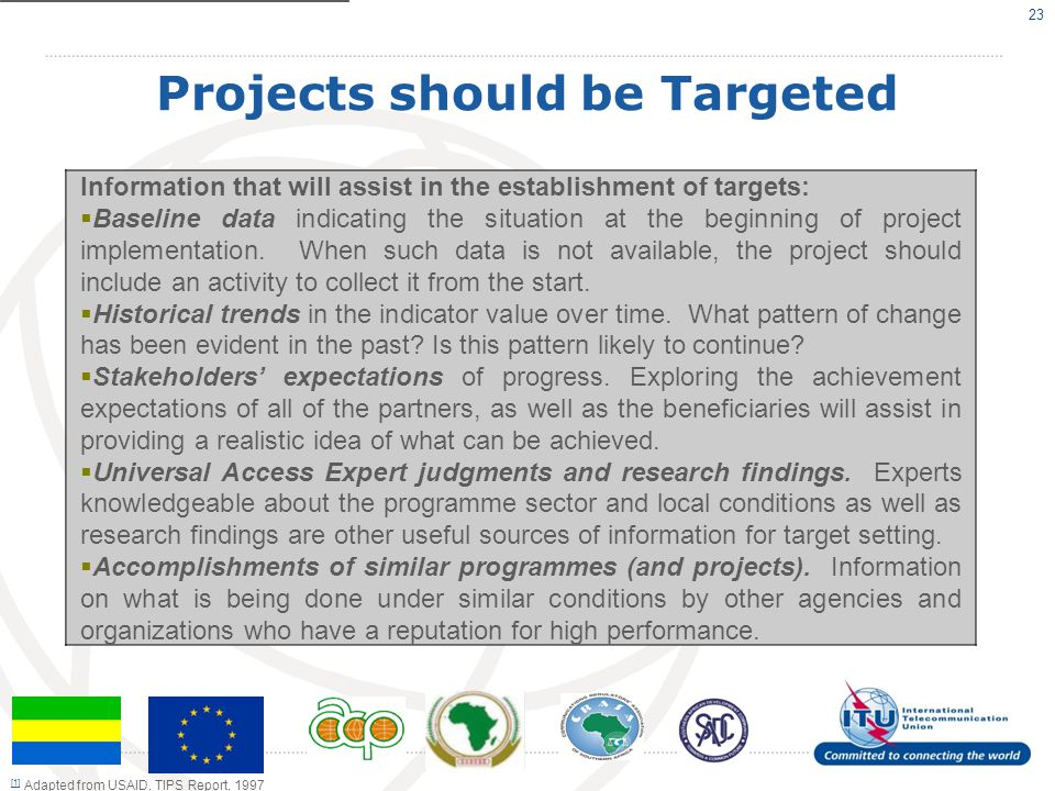 Projects should be Targeted
