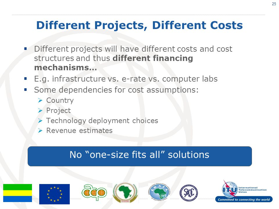 Different Projects, Different Costs