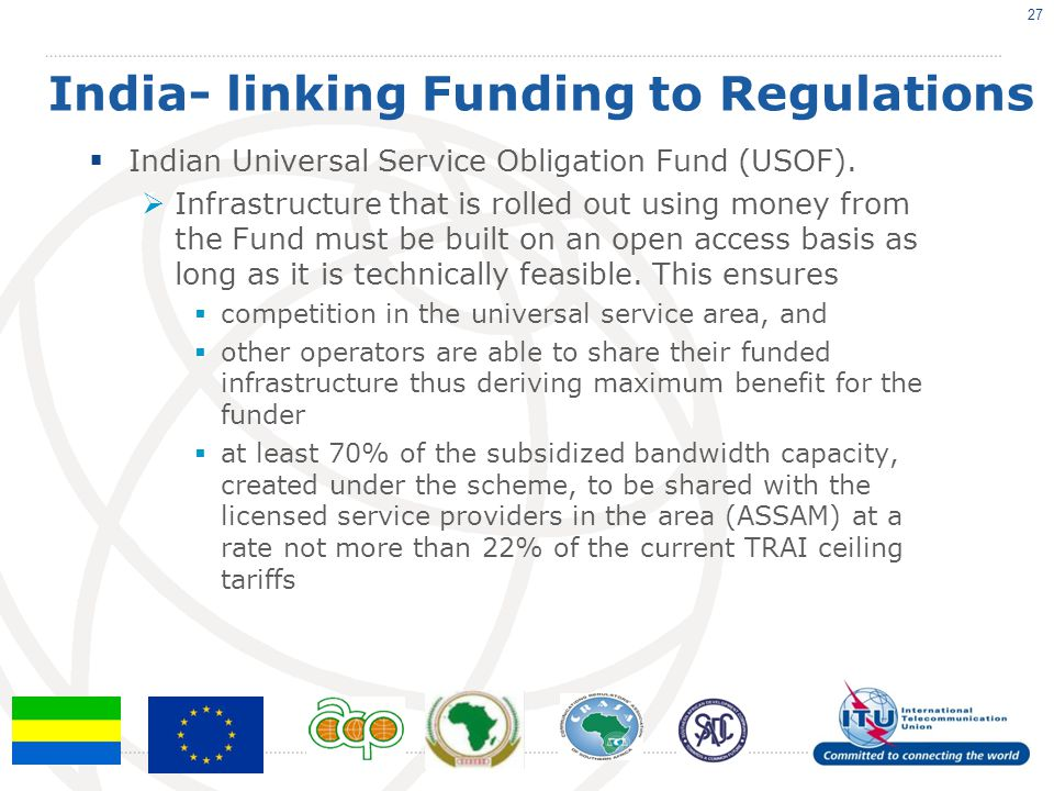 India- linking Funding to Regulations