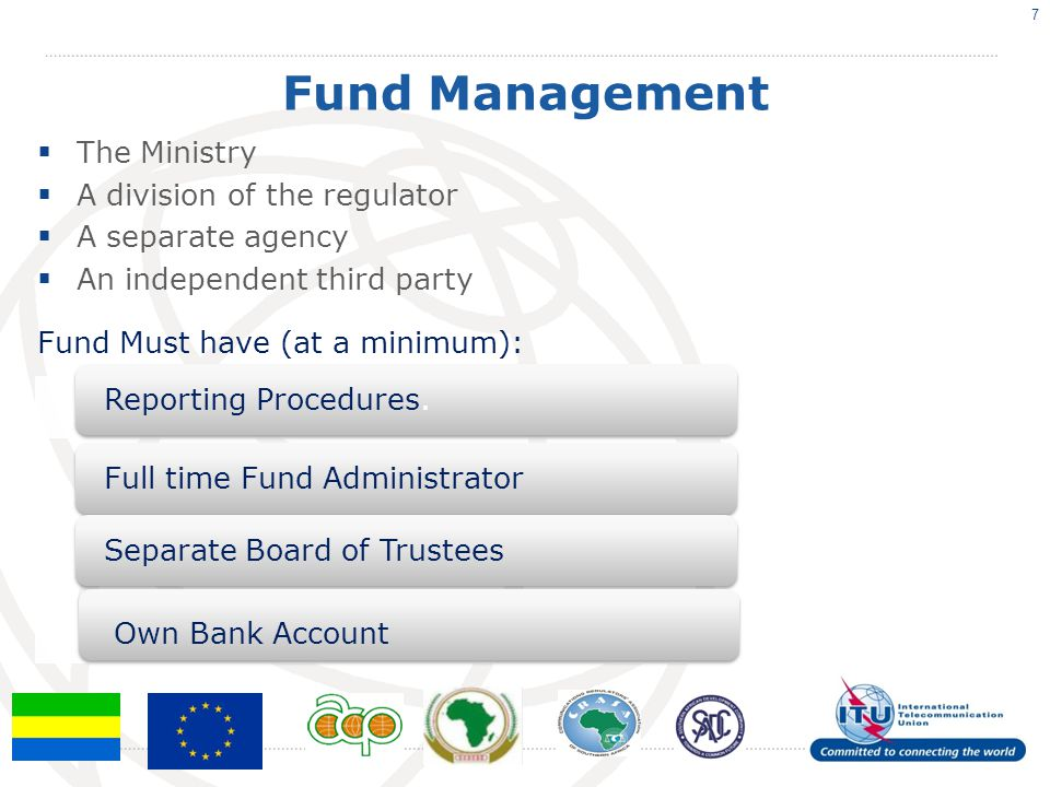 Fund Management The Ministry A division of the regulator