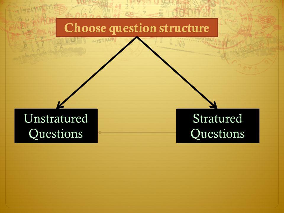 Choose question structure