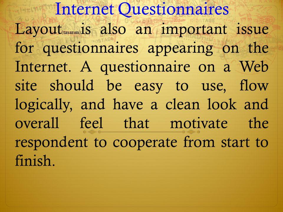 Internet Questionnaires