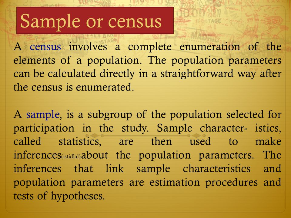 Sample or census