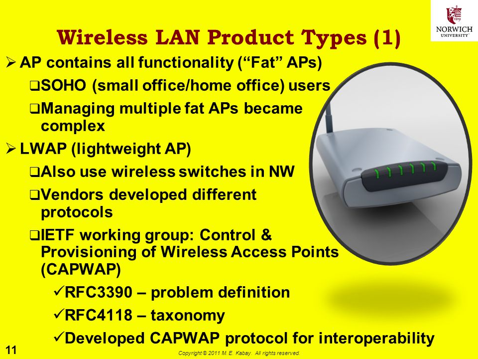 Wireless LAN Product Types (1)