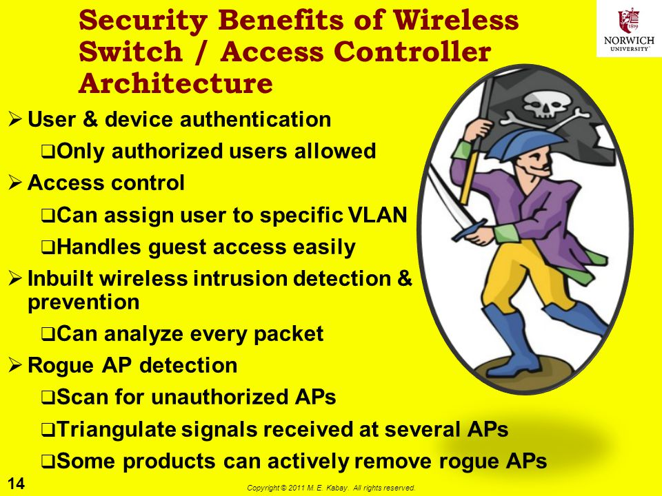 Security Benefits of Wireless Switch / Access Controller Architecture