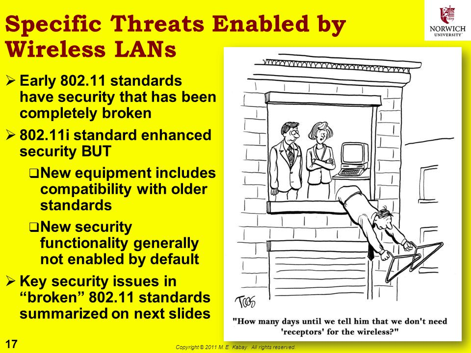 Specific Threats Enabled by Wireless LANs