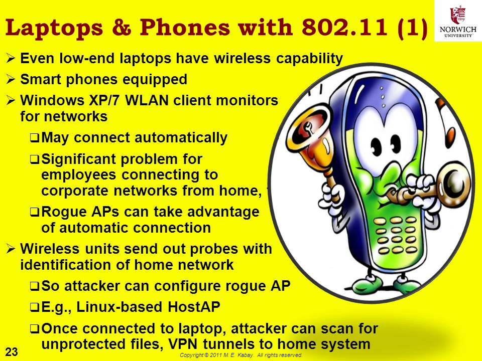 Laptops & Phones with 802.11 (1)