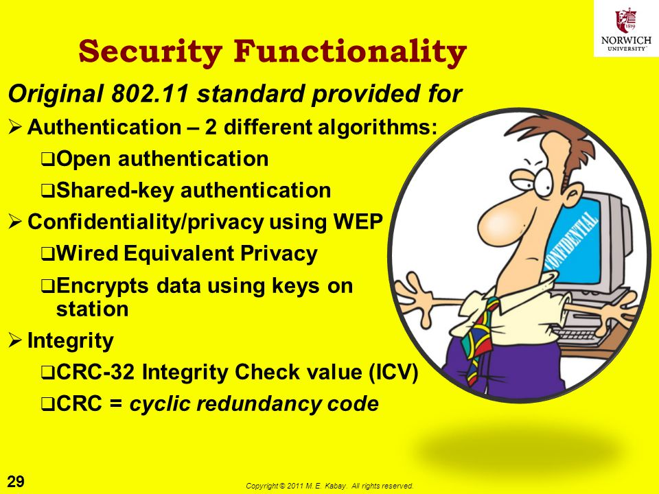 Security Functionality