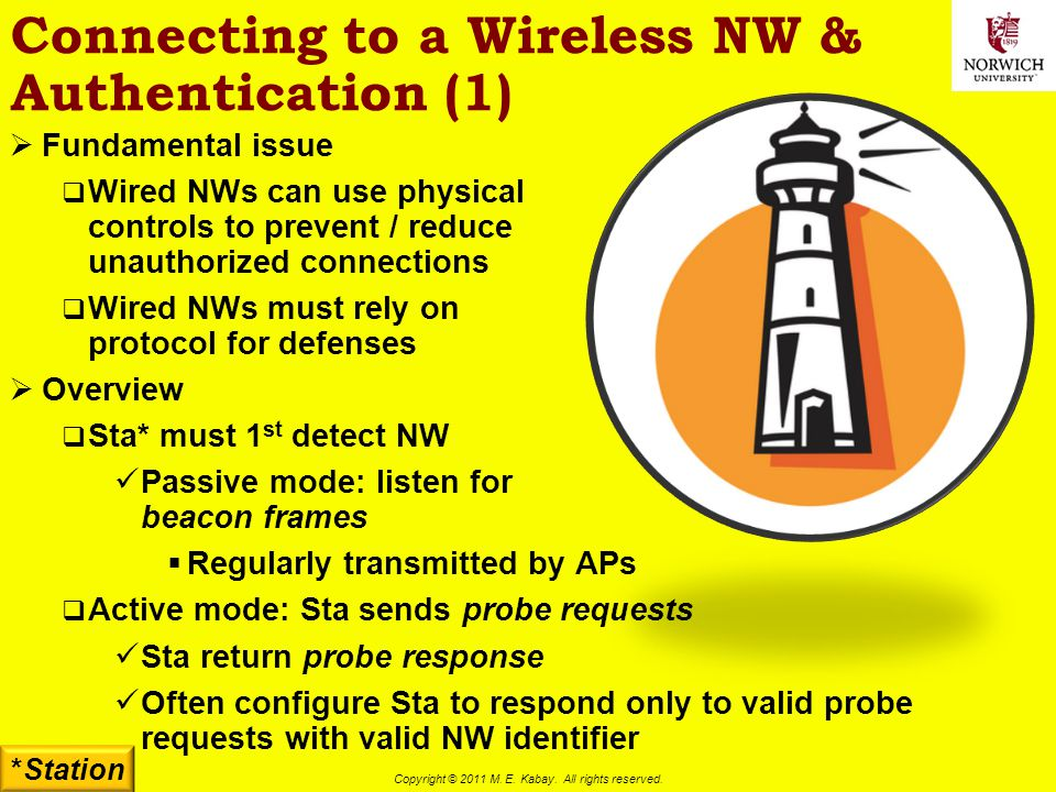 Connecting to a Wireless NW & Authentication (1)