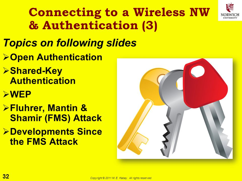 Connecting to a Wireless NW & Authentication (3)