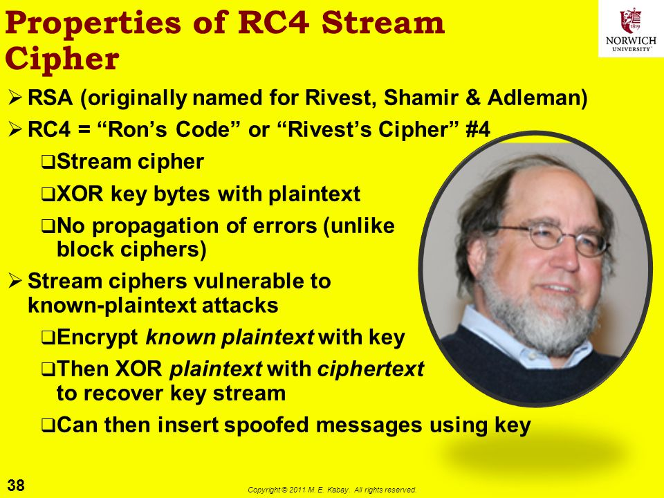 Properties of RC4 Stream Cipher