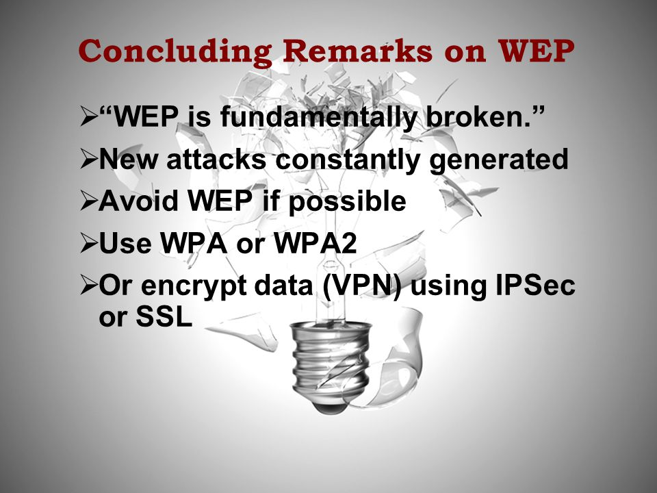 Concluding Remarks on WEP