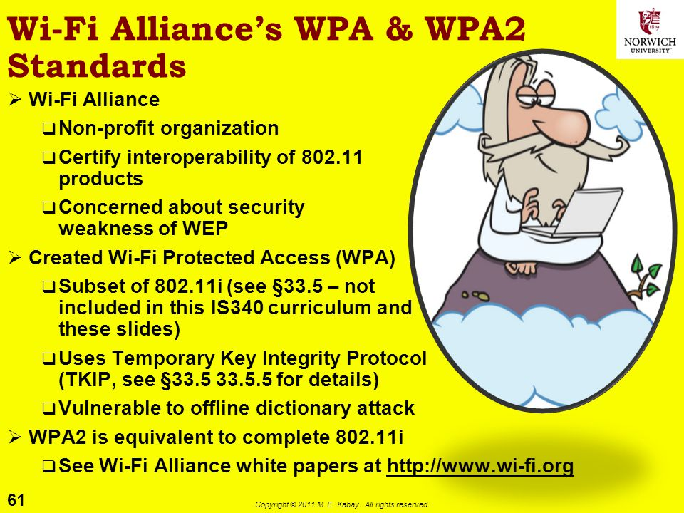 Wi-Fi Alliance's WPA & WPA2 Standards