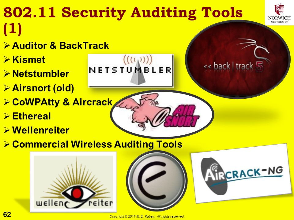 802.11 Security Auditing Tools (1)